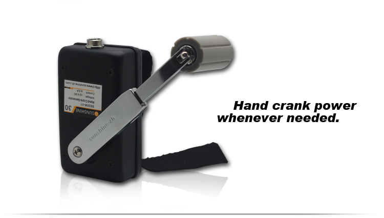 14V DC Outdoor Emergency Hand Crank Power Generator SS30W