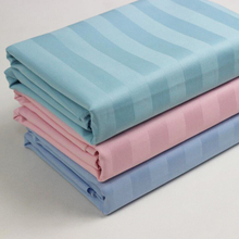 Hospital Use Striped 100% cotton fabric for bed sheets