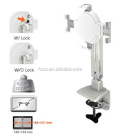 "White Clamp 7""-9"" Lock series Pad and Tablet Stand"