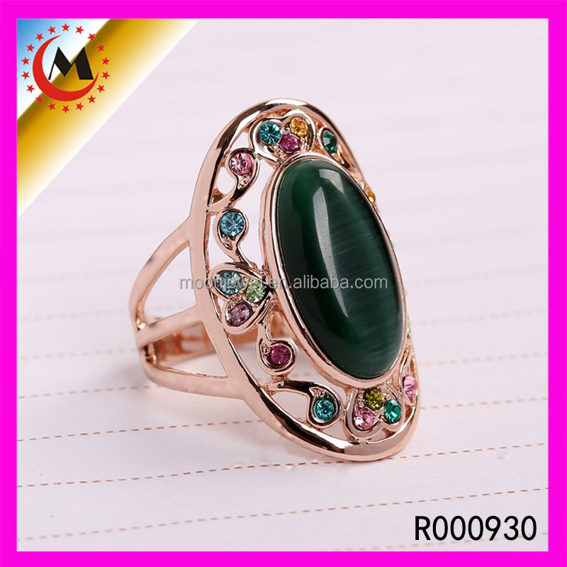 ALIBABA ATTRACTIVE MENS RING WITH EMERALD,OPAL EMERALD RING,EMERALD RING COSTUME JEWELRY