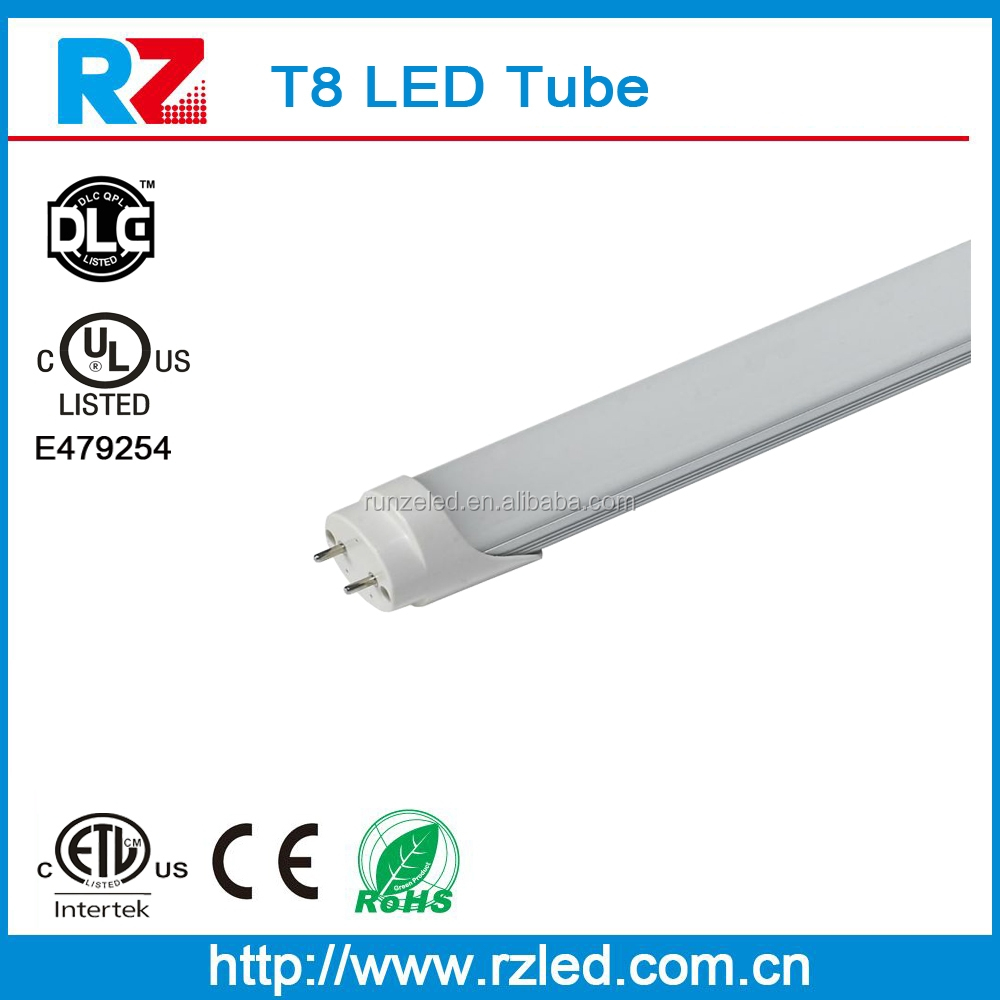 Fluorescent replacement 110-140 lm/w UL approved milk white 1.2m tub8 led light tube