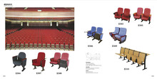 Colorful folding floor chair for movie house