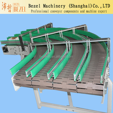 curve table top chain conveyor slat top chain