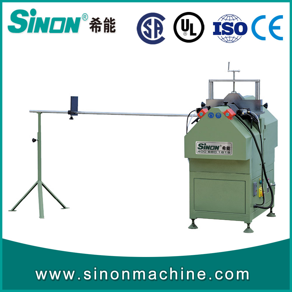 V cutting saw for Vinyl window door profile / Vinyl window door machine