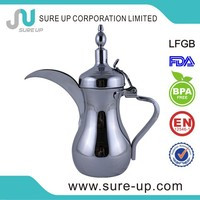 Silver color hot selling double wall stainless steel arabic coffee pot dallah(OSUL)