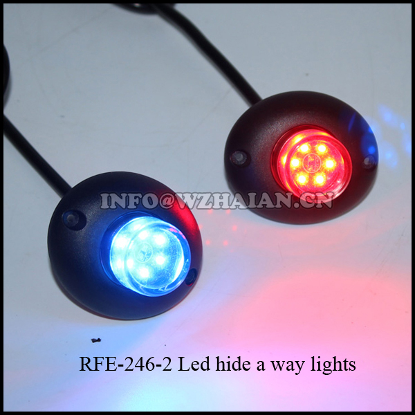Hide-a-way LEDs LED Hideaway Strobe Light for Tow Truck Security Emergency Vehicle RFE-246-2