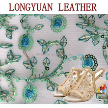 Mesh with Embroidery Flower Fabric For Shoes flower wrapping perforated fabric mesh