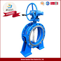 Worm Gear Flange A216 Wcb Hard Seal Butterfly Valve
