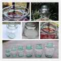 glass bottle,glass pickle jar with lid