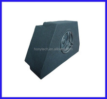 carpeted MDF sound cabinet for customized VW golf 7 car