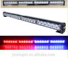 DC 12v 24v 4 types Blue Red Yellow Led light with front bumper lamp single row led light bar for sale