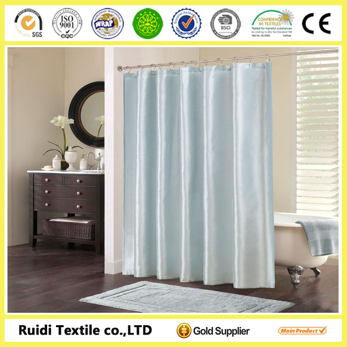 Plain dyed waterproof polyester bath curtain, 100%polyester bath curtain, Bath Curtain with the best price
