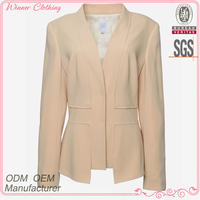 fancy design office/formal fashion lady blazer with long sleeve