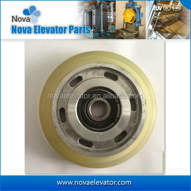 Elevator Roller for Rolling Guide Shoe with Rubber