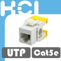 Cat 6A UL 180 Degree UTP 8P8C Connector Modular Keystone Jacks