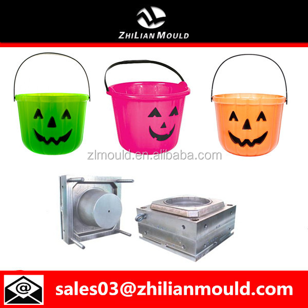 Plastic halloween pumpkin bucket mould manufacturer