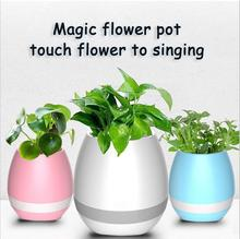 2017 K3 Smart Touch Sensor Piano sound bar Waterproof Bluetooth Music Flower Pots Speaker With Bluetooth LED Bulb Light