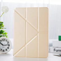 Ultrathin Four Folding Flip Leather Case for iPad Air 2 with stand function, protective case
