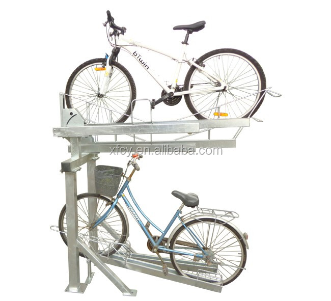 Innovative Bike Parking Two Tier Bicycle Vehicle Rack