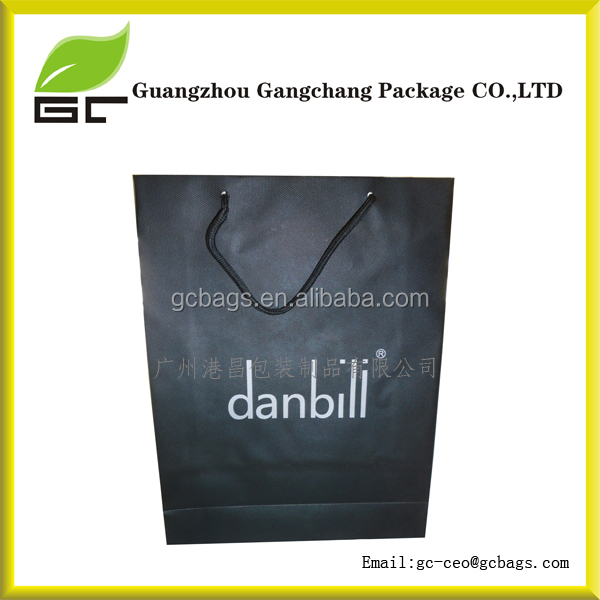 Packing with brown handles brown kraft custom paper shopping bag