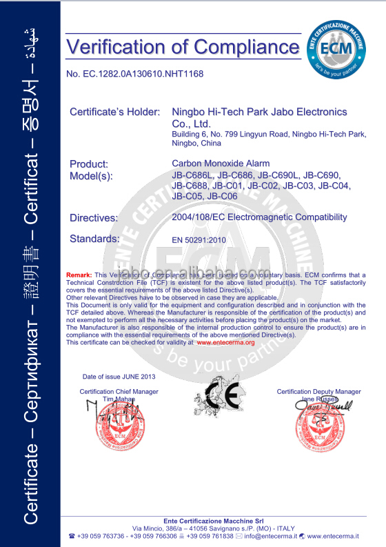 China high-quality Carbon Monoxide Detector with LCD displayer, EN50291 certification