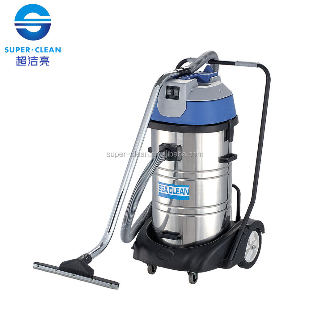 Upright 80L Two Motors Stainless Steel Wet And Dry Vacuum Cleaner