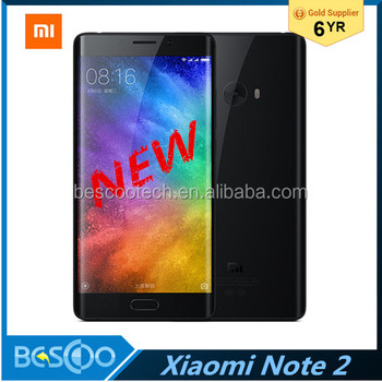 "Original Xiaomi Mi Note 2 Mobile Phone Android Snapdragon 821 5.7"" Dual 3D Curved Glass 1920*1080P 22.56 MP 4070mAh"