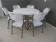 Hotsale outdoor furniture of 4 ft folding plastic dining table for family picnic use