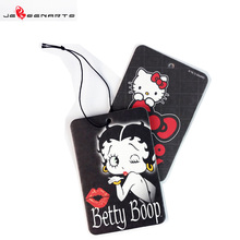 Customized fragrance hanging car paper air freshener car perfume hemp air freshener paper