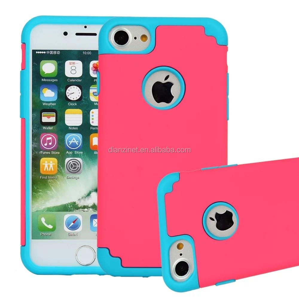 HOT SALES combo two-tone shockproof phone case for iphone 7