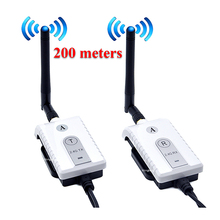 200MW Long Range 2.4G Didital 9V-24V Wireless Video Transmitter Receiver For Bus Truck Trailer Car Camera Rear View System