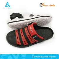 Black and red stripe outdoor unisex clog factory