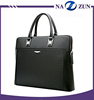 Waterproof Custom Metal Logo Luxury Briefcase Leather Laptop Bags for Men