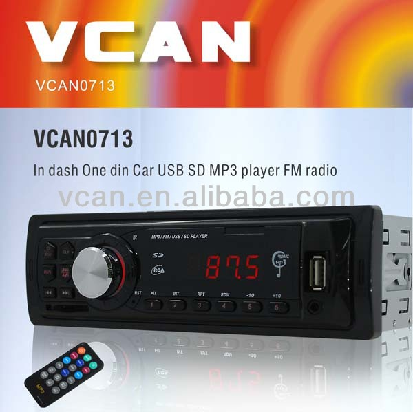 Hot sale convert mp3 car cd player FM transmitter car mp3 player with usb sd slot VCAN0713