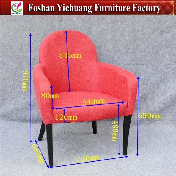 Red aluminum armchairs for sale YC-F057-3