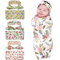 Portable Unique Design Baby Newborn Blanket and Headband Set