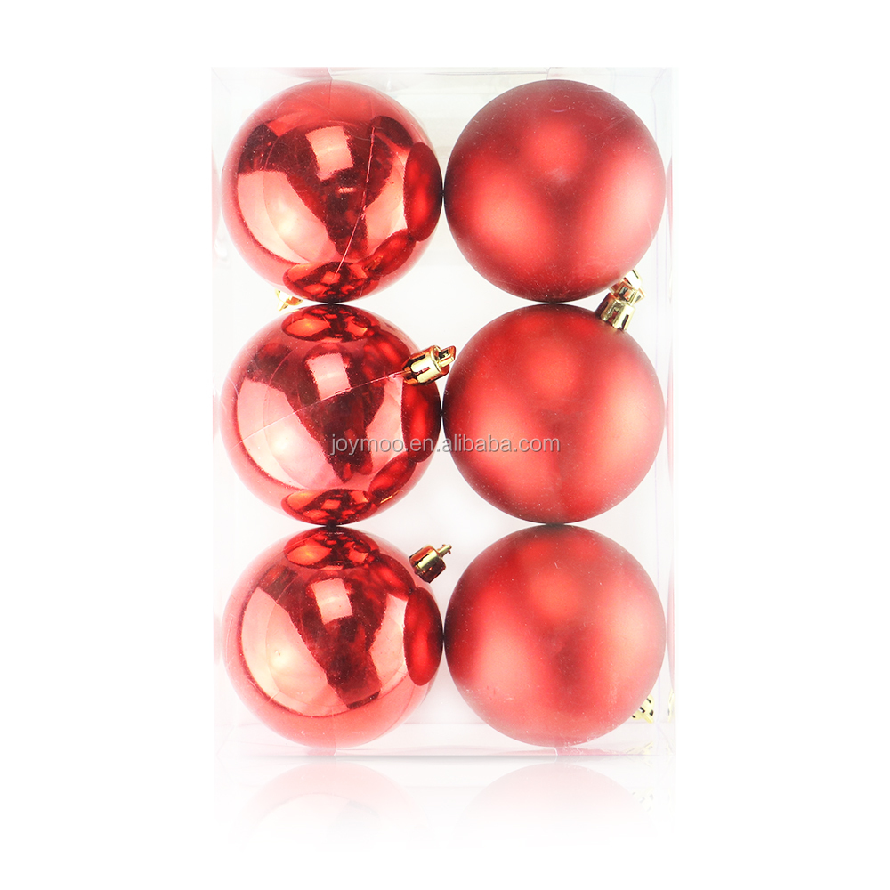 Best Selling Colorful Shatterproof Plastic Christmas Tree Hanging Ball
