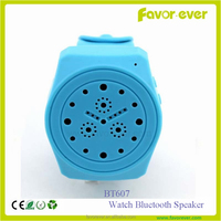 Portable mini sports outdoor watch design silicone wristbrand bluetooth speaker for mobile phone