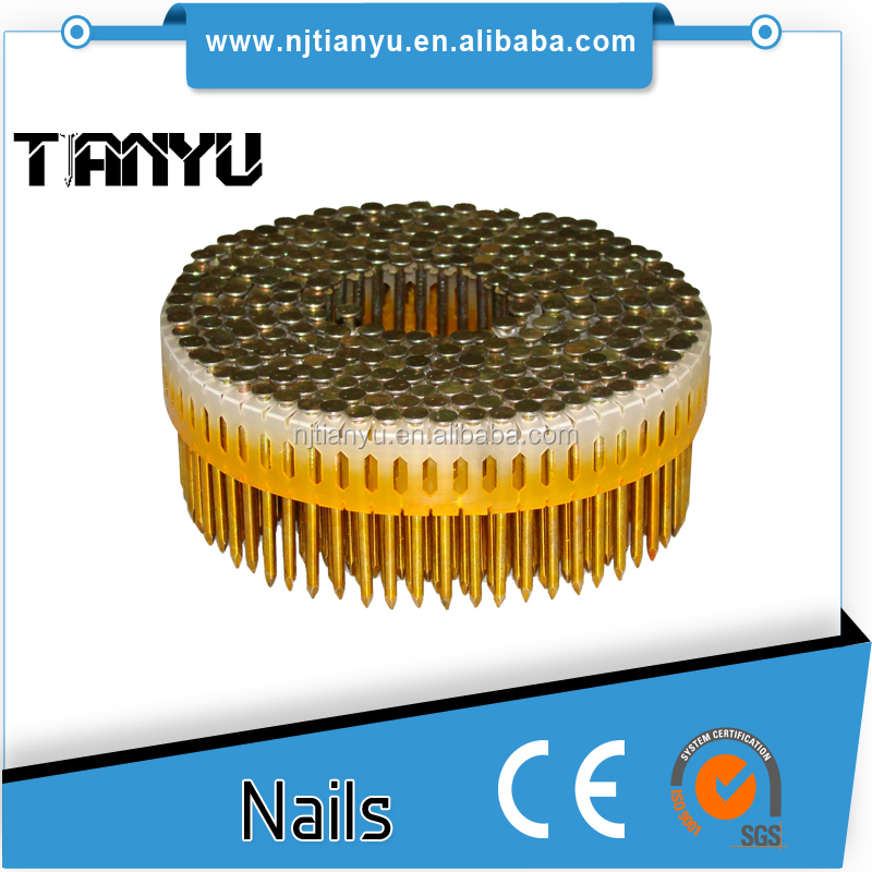 Ring Mechanical galvanised domed head plastic steel coil nails