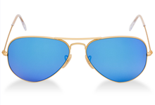 High Quality Custom Design Fashion Light Blue Pilot Sunglasses