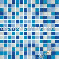glass mosaic tile suitable for swimming pool 20*20mm MDA346