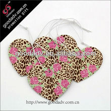 Made in China classic car air freshener/free car air fresheners/heart shaped car air fresheners with own logo