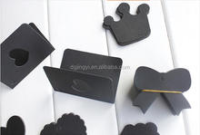 high quality shaped custom made black cards folded jewelry hang tag