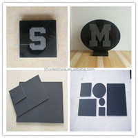 Custom Engraved Black Granite Tile Stone Coasters