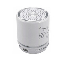 Cylinder portable mini speaker with usb charger wholesale T-2308A