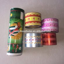 Food packaging film plastic printed bopp metalized film