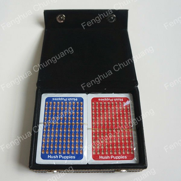 Double Decks Poker Set Poker Range with Gift PU Box