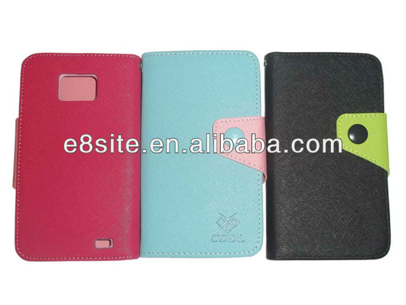 For SamSung i9100 Galaxy S2 Card Holder Wallet Leather Case