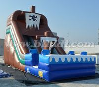 Commerical grade inflatable pirate ship water slide for sale B4084