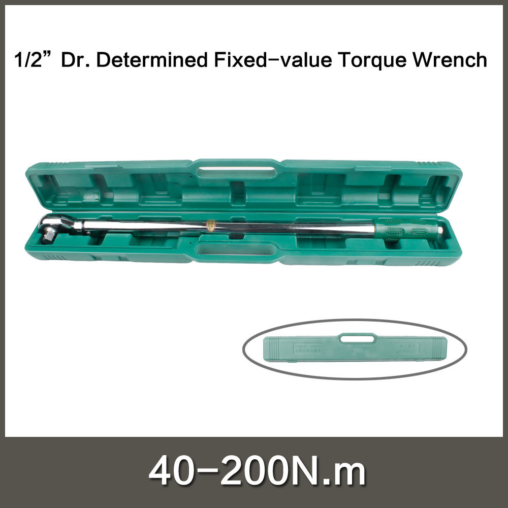 "<strong>1</strong>/2"" Dr. Determined Fixed-value Torque Wrench 40-200N.<strong>m</strong> socket wrench DIN ISO6789 standard"